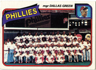 Topps 1980 Baseball Card | Philadelphia Phillies | Baseballisms.com