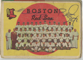 Topps 1959 Baseball Card | Boston Red Sox | Baseballisms.com