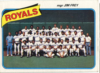 Topps 1980 Baseball Card | Kansas City Royals | Baseballisms.com