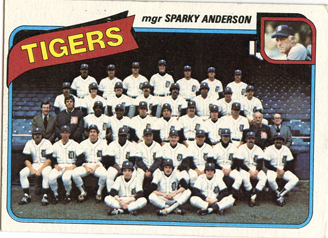 Topps 1980 Baseball Card | Detroit Tigers | Baseballisms.com