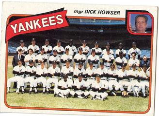 Topps 1980 Baseball Card | New York Yankees | Baseballisms.com