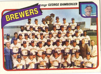 Topps 1980 Baseball Card | Milwaukee Brewers | Baseballisms.com