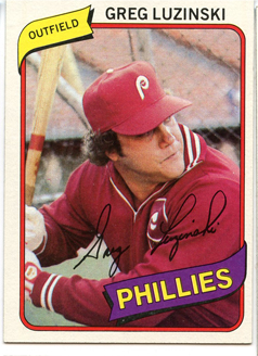 Topps 1980 Baseball Card | Greg Luzinski | Philadelphia Phillies | Baseballisms.com