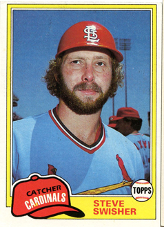 Topps 1981 Baseball Card | Steve Swisher | St Louis Cardinals | Baseballisms.com