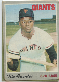 Topps 1970 Baseball Card | Tito Fuentes | San Francisco Giants | Baseballisms.com