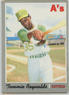 Topps 1970 Baseball Card | Tommy Reynolds | Oakland Athletics | Baseballisms.com
