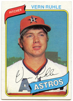 Topps 1980 Baseball Card | Vern Ruhle | Houston Astros | Baseballisms.com